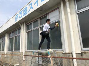 飛散防止フィルム施工実績画像(佐賀県伊万里市)