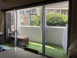 暑さ対策 遮熱 UVカット 飛散防止 フィルム施工実績 久留米市