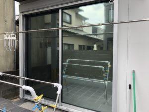 窓ガラス 目隠しフィルム 福岡市早良区 施工実績