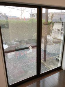 博多区窓ガラスミラーフィルム施工