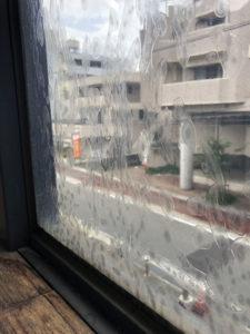 窓ガラスフィルムの劣化
