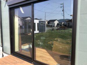 熊本市南区窓ガラス目隠しフィルム