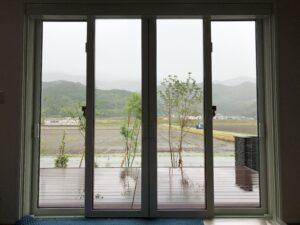 福岡市西区窓ガラス目隠し遮熱フィルム