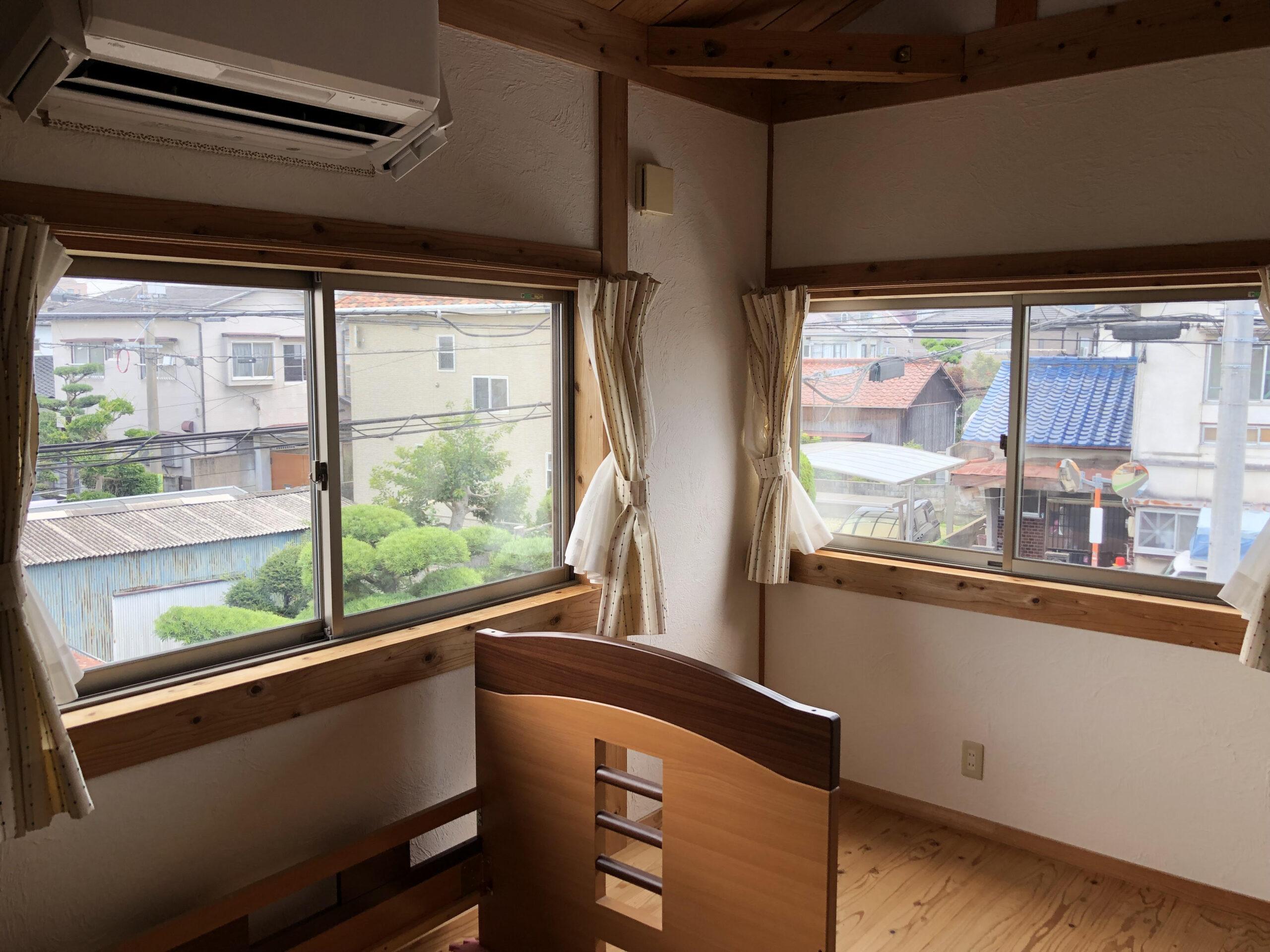 福岡市東区台風対策窓ガラスフィルム