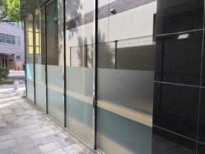 福岡市店舗事務所窓ガラス目隠しフィルム