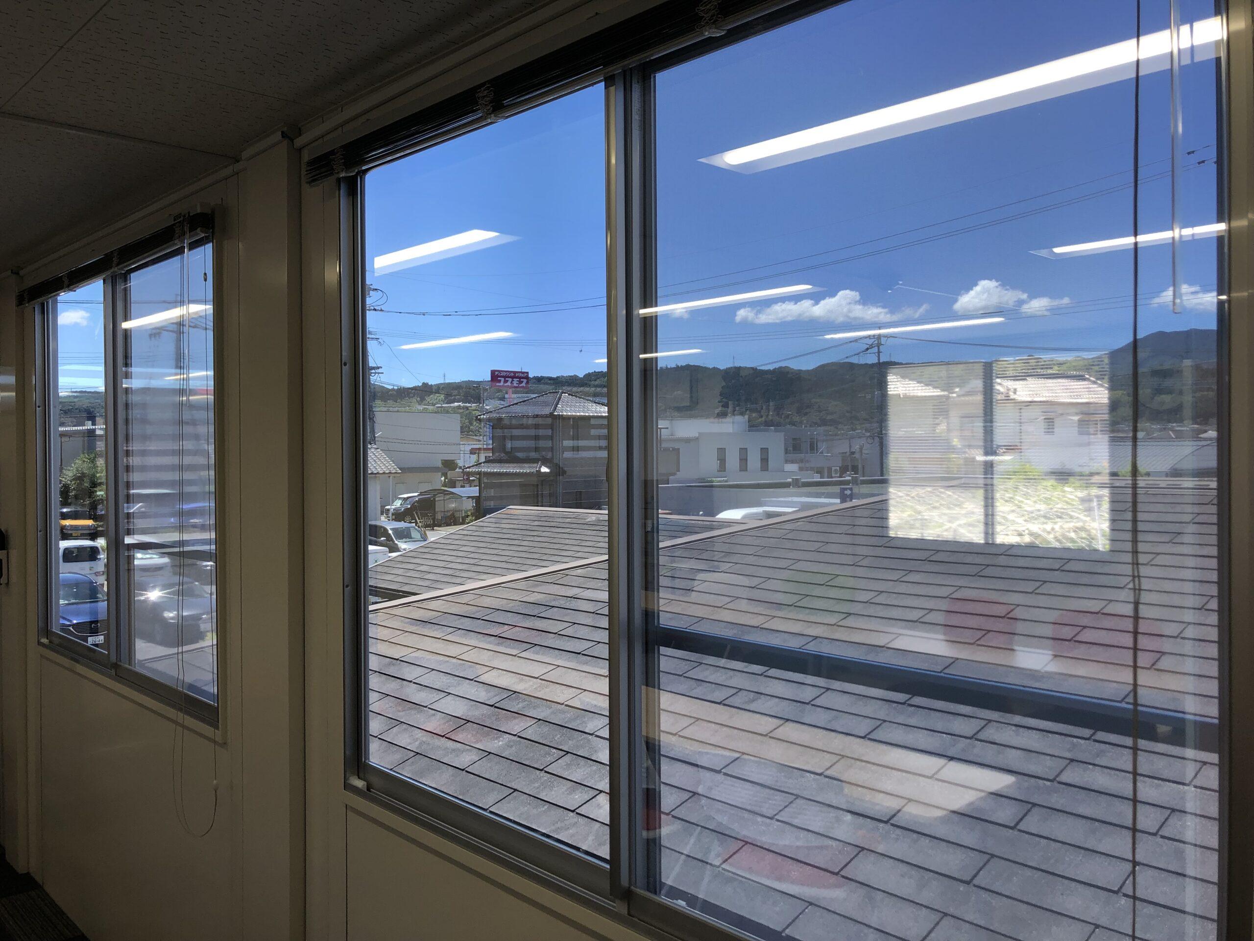 大分県窓ガラス暑さ対策フィルム
